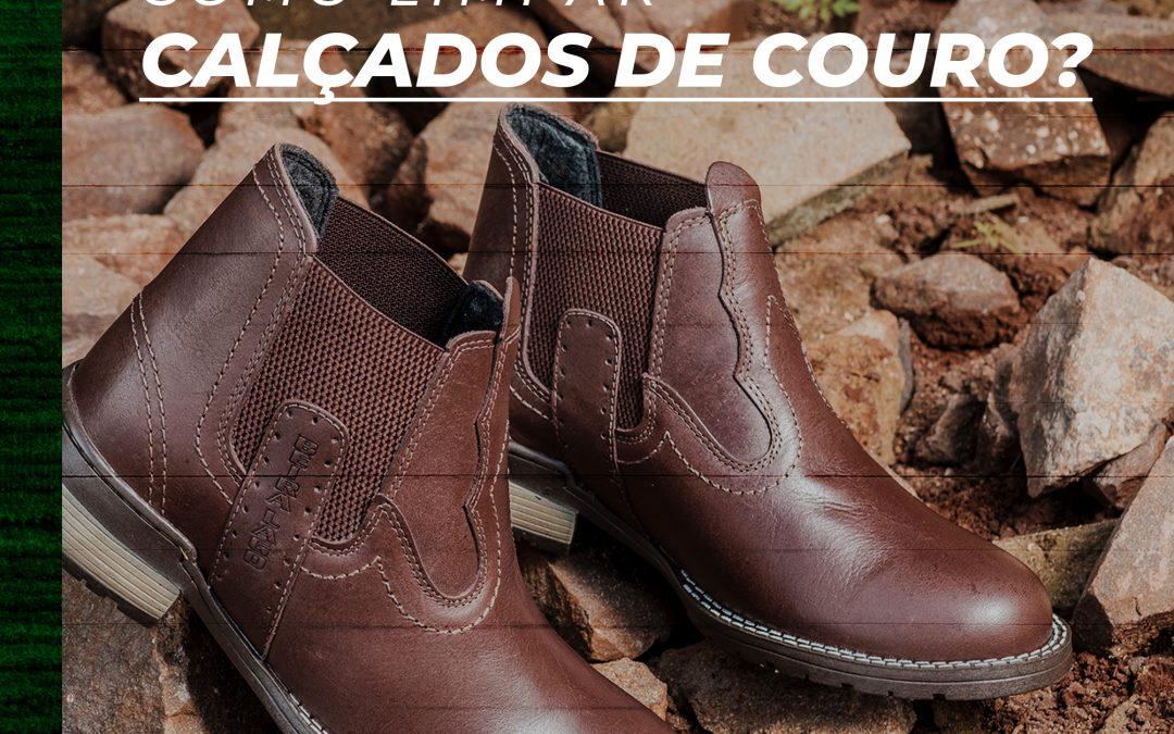 Como limpar calçados de couro